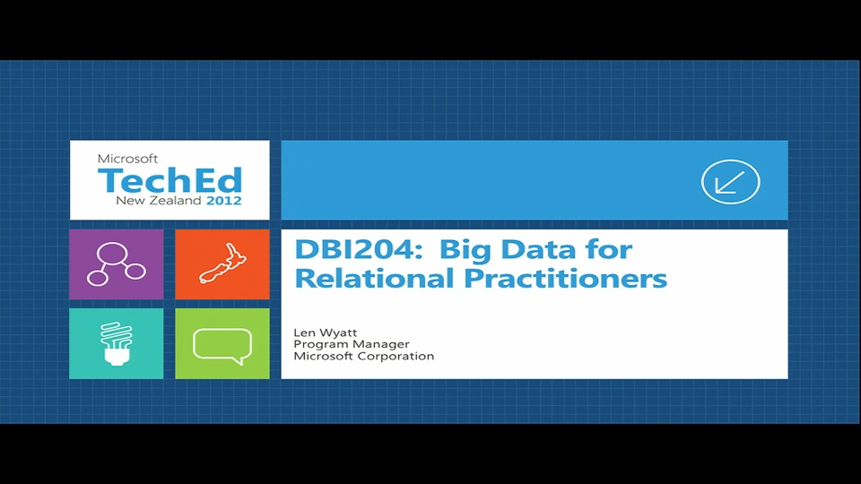 Big Data for Relational Practitioners