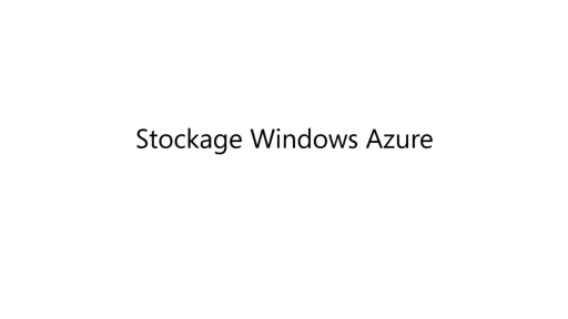 [Cloud IaaS] Le stockage sur Windows Azure
