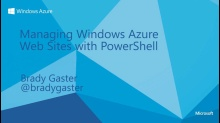 Managing Windows Azure Web Sites with PowerShell
