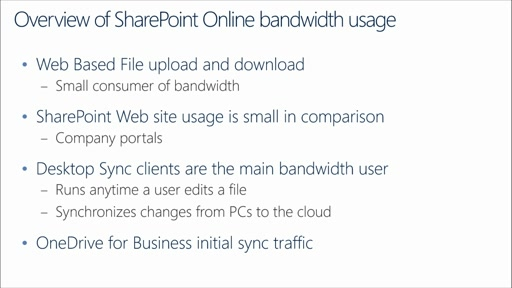 Office 365 Performance Management: (05) Planning for Office 365 Internet Capacity – SharePoint Online