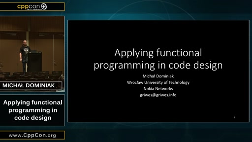 Applying functional programming in code design