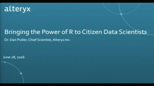 Bringing the Power of R to Citizen Data Scientists