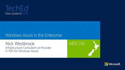 Windows Azure in the Enterprise