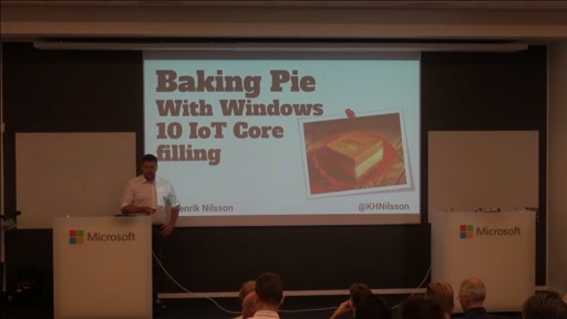 Baking Pie with Windows 10 IoT Core filling