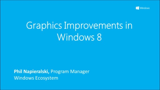 Graphic Improvements in Windows 8