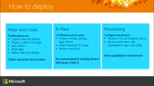 (Part 1) Deploying Windows 10: Deployment and Servicing Options