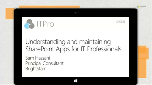 Understanding and maintaining SharePoint Apps for IT Professionals