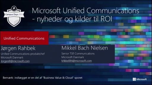 Microsoft Unified Communications – muligheder og ROI