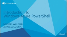 Introduction to Windows Azure PowerShell