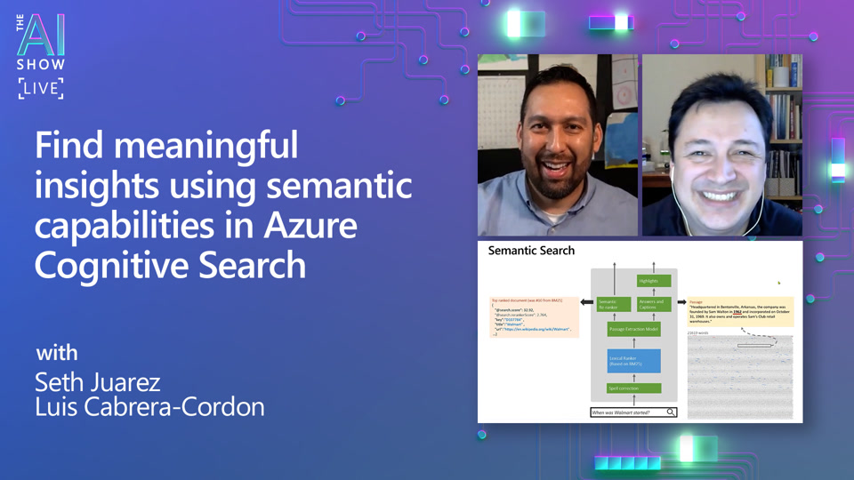 Find meaningful insights using semantic capabilities in Azure Cognitive Search