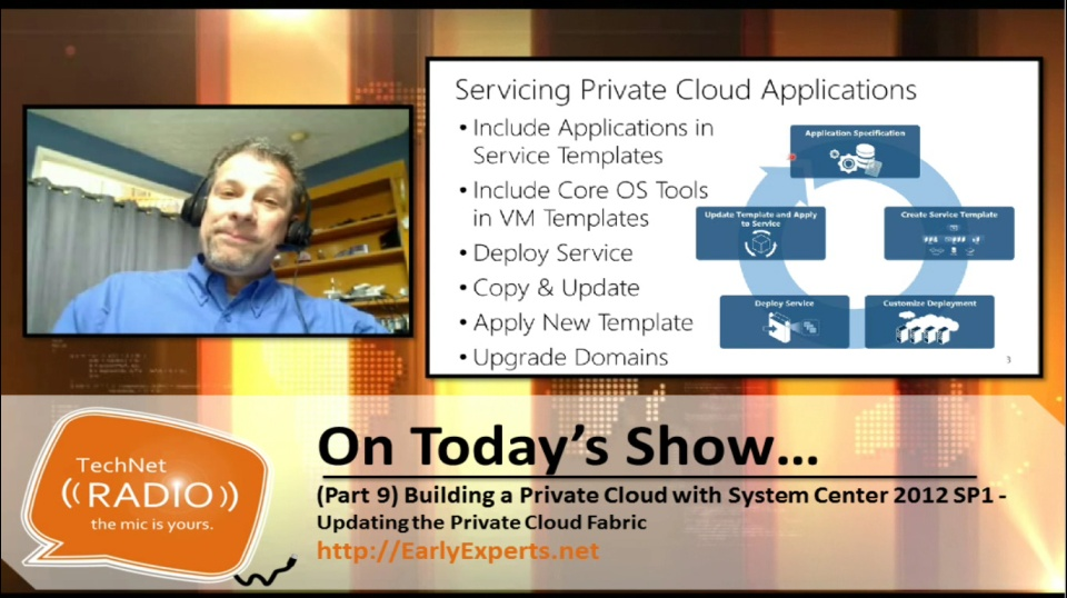 TechNet Radio: (Part 9) Building a Private Cloud with System Center 2012 Service Pack 1 – Updating the Private Cloud Fabric