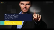 All-Up what's new in Sharepoint 2013