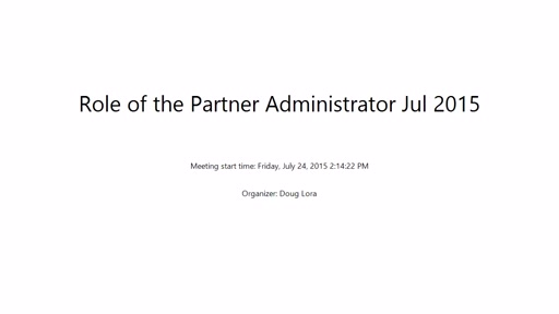 The Role of the Partner Administrator on the Enterprise Azure Portal