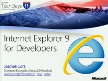 TechDays 11 Geneva - Internet Explorer 9 for Web Developers (e)