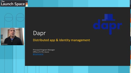 Identity management in distributed applications using Dapr