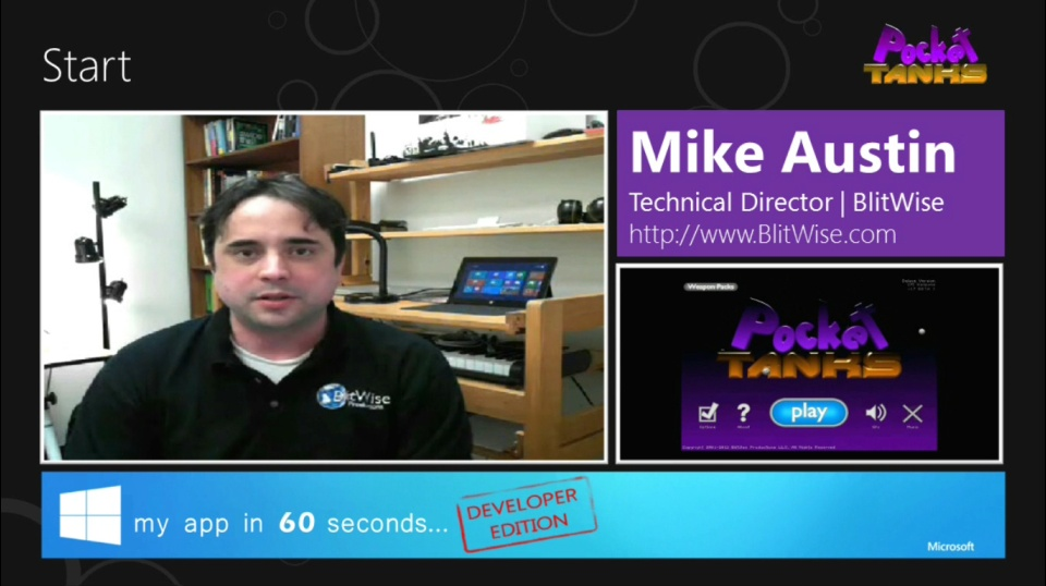 My App in 60 Seconds - Developer Edition: Pocket Tanks