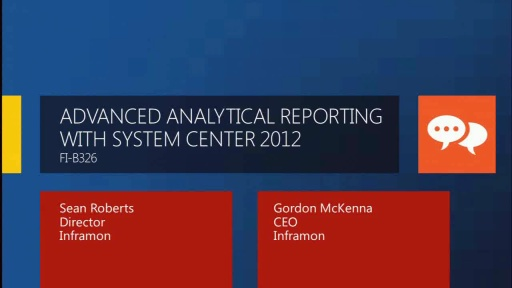 Advanced Analytical Reporting with System Center 2012