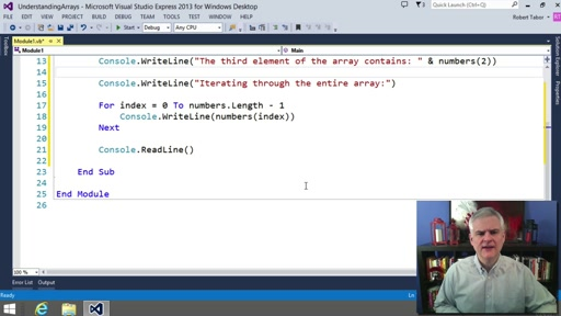 Visual Basic Fundamentals for Absolute Beginners: (10) Creating Arrays of Values
