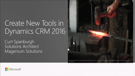 Create new tools in Dynamics CRM 2016