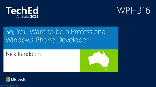 So, You Want to be a Professional Windows Phone Developer?
