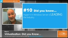 TechNet Radio: (Part 3) Virtualization: Did You Know...