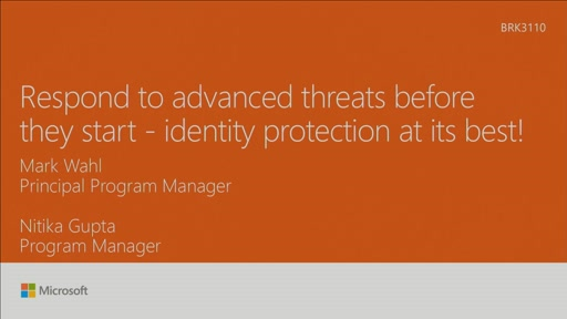 Respond to advanced threats before they start - identity protection at its best!