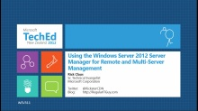 Using the Windows Server 2012 Server Manager for Remote and Multi-Server Management