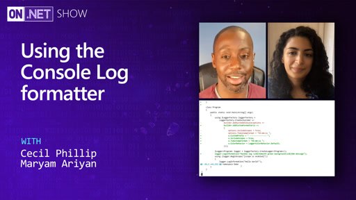 Using the Console Log formatter