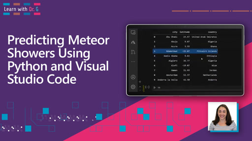 Predicting Meteor Showers Using Python and Visual Studio Code