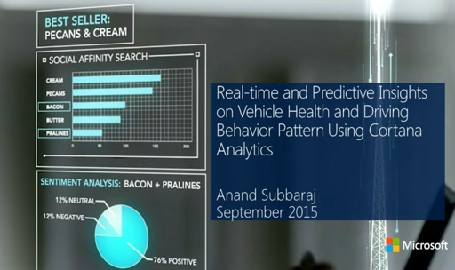 Real-time and Predictive Insights on Vehicle Health and Driving Behavior Pattern Using Cortana Analytics