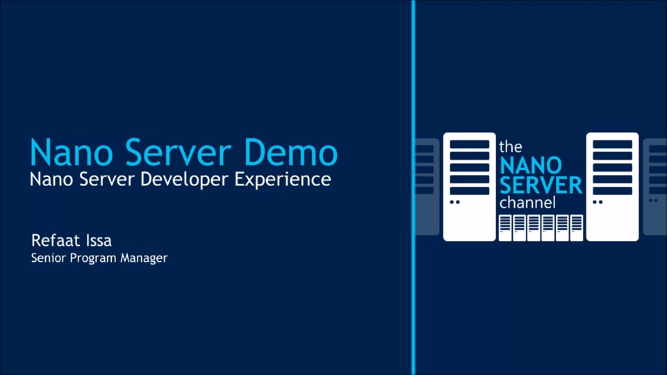 demo nano server developer experience the nano server