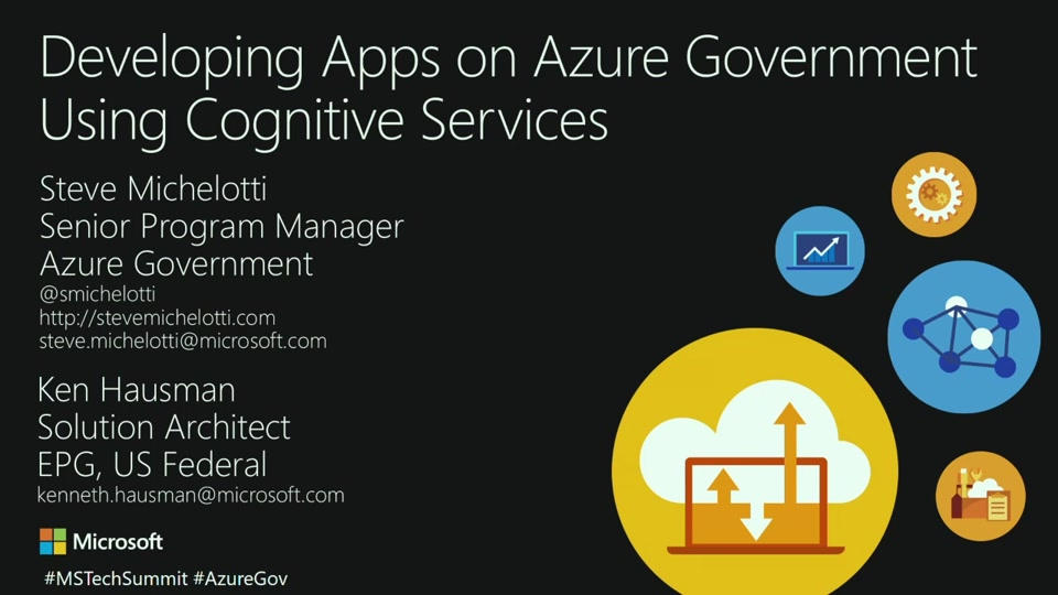 Developing Apps on Azure Government Using Cognitive Services