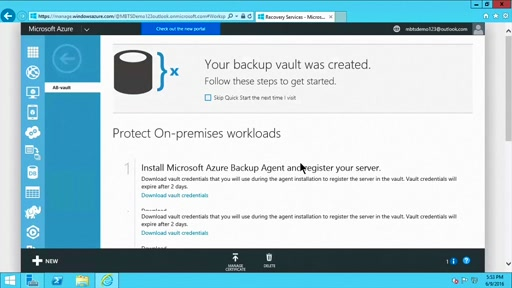 (Part 1) How to Setup and Configure Azure Backup Server