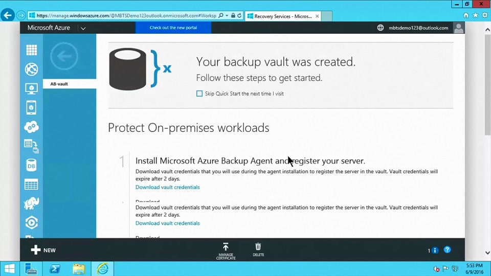 Part 1) How to Setup and Configure Azure Backup Server | OEMTV ...