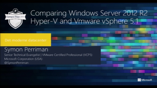 Comparing Windows Server 2012 R2 Hyper-V and VMware vSphere 5.1