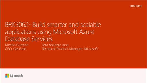 Build smarter and scalable applications using Microsoft Azure Database Services