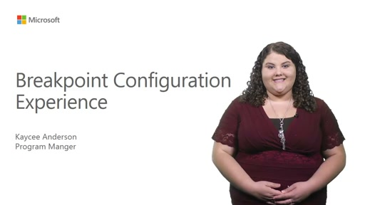 Breakpoint Configuration Experience in Visual Studio 2015