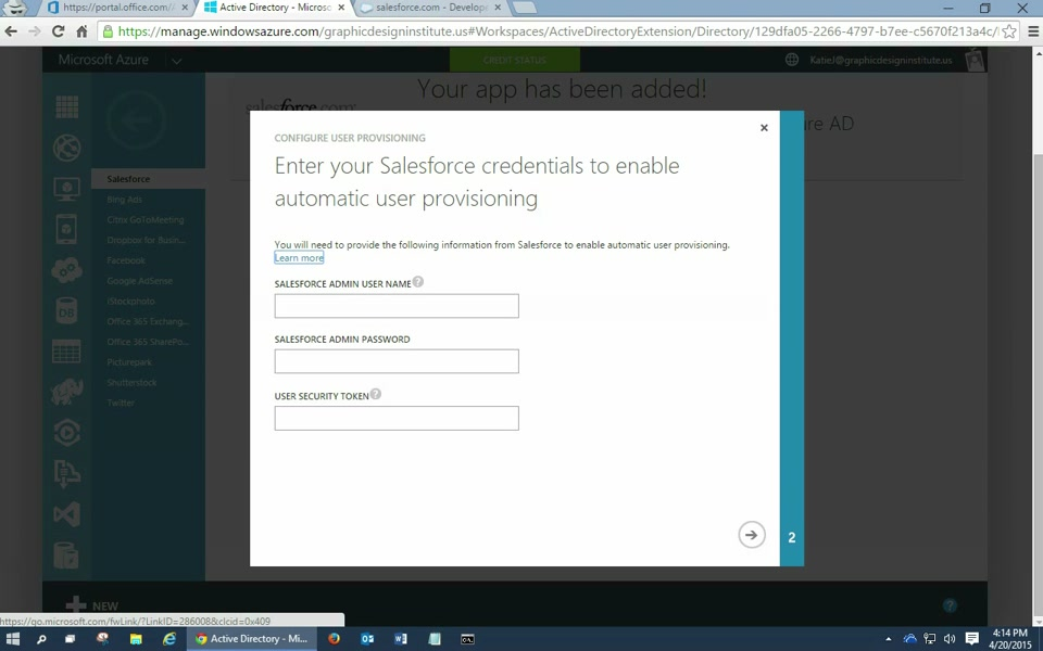 Integrating Salesforce with Azure AD: How to automate User Provisioning (2/2)