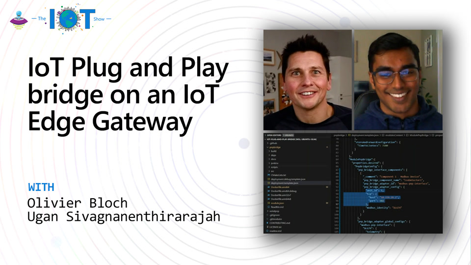 IoT Plug and Play bridge on an IoT Edge Gateway