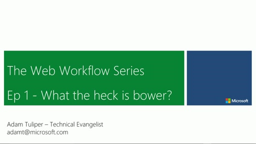 Web Workflow Series - Quick Guide to Bower