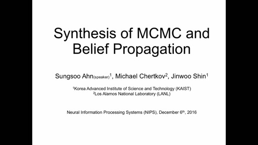 Synthesis of MCMC and Belief Propagation