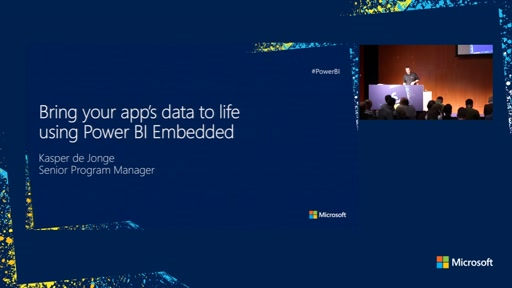 Bring your app's data to life using Power BI Embedded