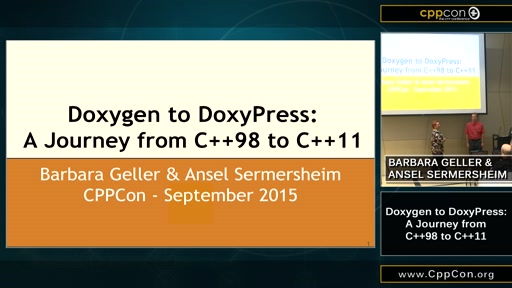 Doxygen to DoxyPress: A Journey from C++98 to C++11
