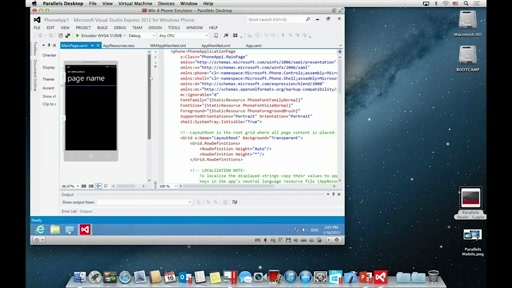 Parallels: Using Visual Studio on OSX