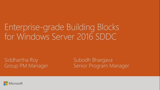 Enterprise-grade Building Blocks for Windows Server 2016 SDDC: Partner Offers