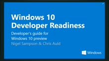 Windows 10 Developer Readiness [New Zealand]