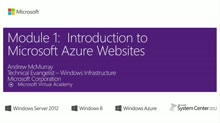 (Module 1) Introduction to Microsoft Azure Websites