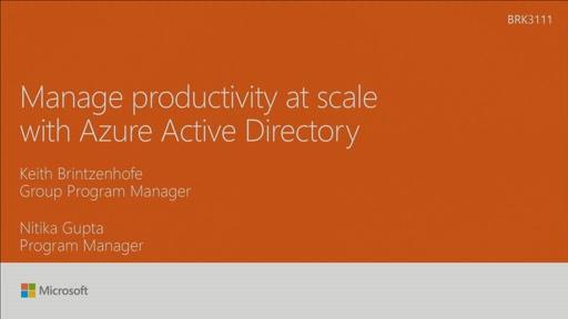 Manage productivity at scale with Azure Active Directory