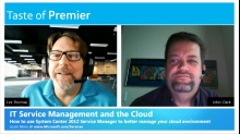 Taste of Premier: ITSM and the Cloud - How System Center 2012 Service Manager can help manage your cloud environment