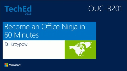 Become a Microsoft Office Ninja in 60 Minutes